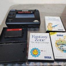 Videojuegos y Consolas: LOTE CONSOLA SEGA MASTER SYSTEM II CON 5 JUEGOS SONIC, OUT RUN, SECRET COMMAND, FANTASY ZONE Y BACK-. Lote 277700658
