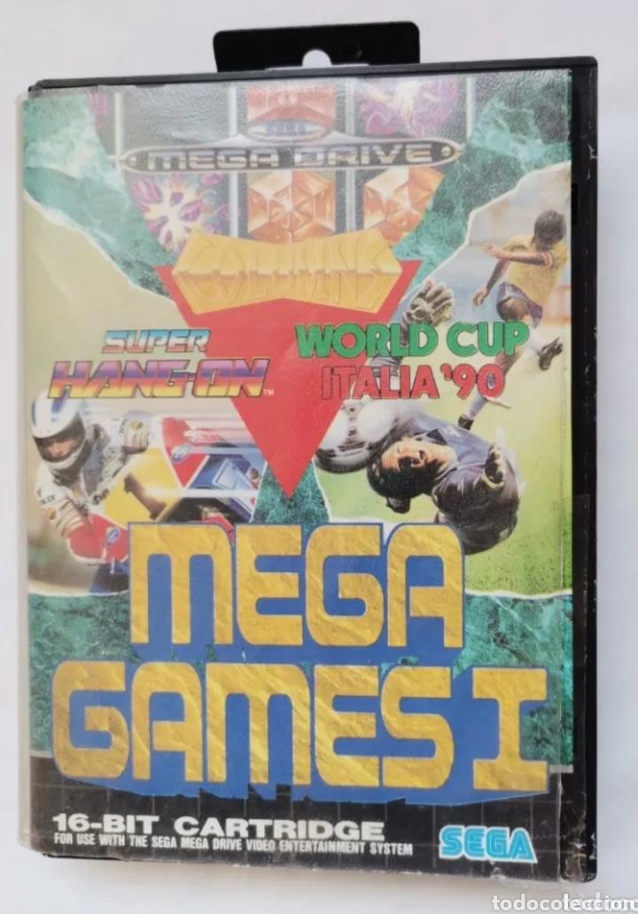 SEGA MEGA DRIVE MEGA GAMES I SUPER HANG-ON WORLD CUP ITALIA 90 (Juguetes - Videojuegos y Consolas - Sega - Master System)