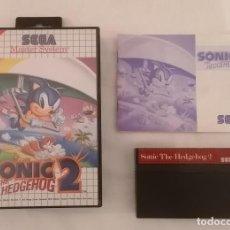 Videojuegos y Consolas: SEGA MASTER SYSTEM SONIC 2 COMPLETO PAL ESPAÑA. Lote 287625018