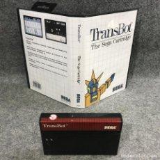 Videojuegos y Consolas: TRANSBOT SEGA MASTER SYSTEM SMS. Lote 295476393