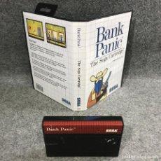 Videojuegos y Consolas: BANK PANIC SEGA MASTER SYSTEM SMS. Lote 295476398