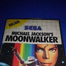 Videojuegos y Consolas: MOONWALKER MICHAEL JACKSON JUEGO ORIGINAL PARA SEGA MASTER SYSTEM PAL COMPLETO. Lote 296004178