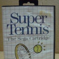Videojuegos y Consolas: VIDEO JUEGO SEGA MASTER SYSTEM SUPER TENNIS ¡¡COMPLETO¡¡. Lote 24469833