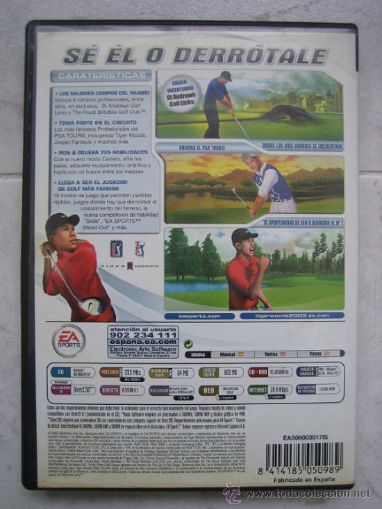 Videojuegos y Consolas: PC CD-ROM. EA sports Tiger Woods PGA TOUR 2003 - Foto 7 - 33443722