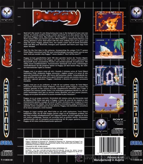 Videojuegos y Consolas: PUGGSY MEGA CD SEGA ESPAÑA PAL - Foto 2 - 46724699