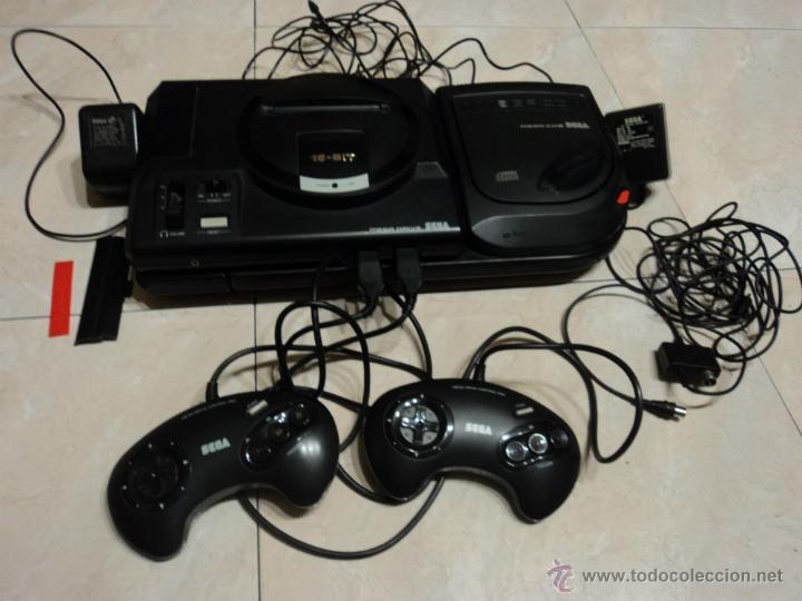 LOTE DE CONSOLAS SEGA MEGA CD 2 Y MEGA DRIVE COMPLETAS (Juguetes - Videojuegos y Consolas - Sega - Mega CD)