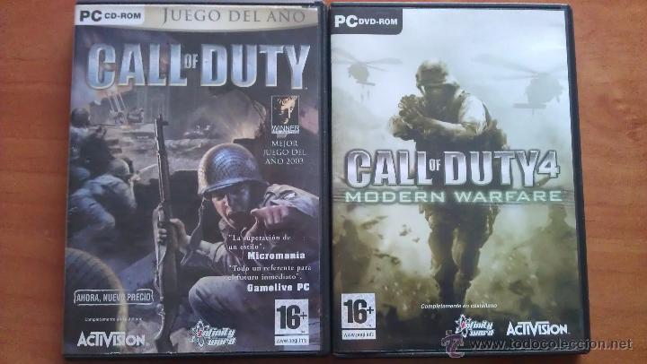 2003 - 2007 CALL OF DUTY 1 Y 4 (Juguetes - Videojuegos y Consolas - Sega - Mega CD)