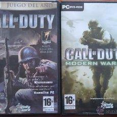 Videojogos e Consolas: 2003 - 2007 CALL OF DUTY 1 Y 4. Lote 48873707