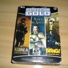 Videojuegos y Consolas: **PACK DE 3 JUEGOS PC-CD,--- SELECCION GOLD-- EN SU ESTUCHE ORIGINAL(PACK ACCION Nº5) OFERTA!!!. Lote 49280733