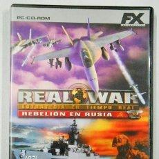 Videojuegos y Consolas: *OPORTUNIDAD* REAL WAR REBELIÓN EN RUSIA JUEGO DE PC CD-ROM DE FX. Lote 53124150