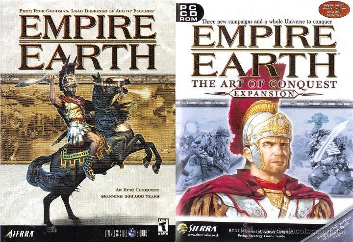 VIDEOJUEGO DE ESTRATEGIA PC EMPIRE EARTH *ORIGINAL* DOS CDS -OPORTUNIDAD- (Juguetes - Videojuegos y Consolas - Sega - Mega CD)
