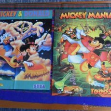 Videojuegos y Consolas: CARTEL MICKEY & DONALD MEGA FORCE Y MICKEY MANÍA TODOSEGA Y RISE OF THE ROBOTS. REGALO BLANCANIEVES.. Lote 53858254