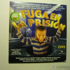 Videojuegos y Consolas: JUEGO CD ROM FUGA EN LA PRISION.-. Lote 54456515