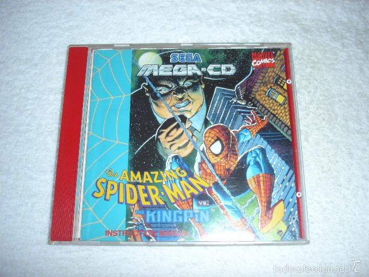 JUEGO SEGA MEGA CD: THE AMAZING SPIDER-MAN. EN FUNCIONAMIENTO. (Juguetes - Videojuegos y Consolas - Sega - Mega CD)