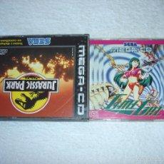 Videojuegos y Consolas: JUEGOS SEGA MEGA CD: TIME GAL Y JURASSIC PARK (EN CASTELLANO) COMPLETOS, EN FUNCIONAMIENTO.. Lote 58430526