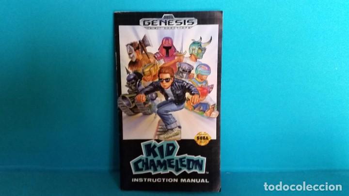 MANUAL DE INSTRUCCIONES SEGA GÉNESIS KID CHAMELEON (Juguetes - Videojuegos y Consolas - Sega - Mega CD)