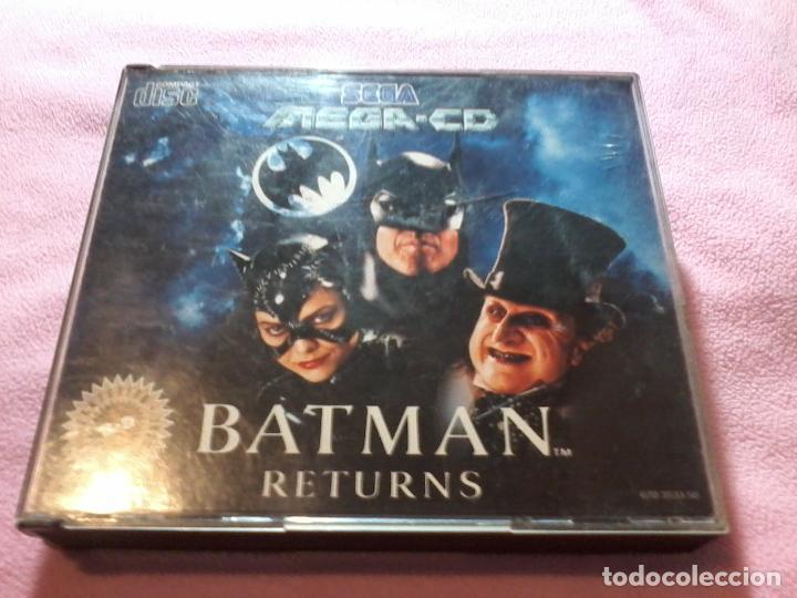 SEGA BATMAN RETURNS SEGA MEGA CD 1993 JUEGO COMPLETO. (Juguetes - Videojuegos y Consolas - Sega - Mega CD)
