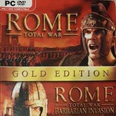 Videojuegos y Consolas: ROME TOTAL WAR GOLD EDITION / JUEGO PC ORDENADOR POR SEGA. Lote 141820374