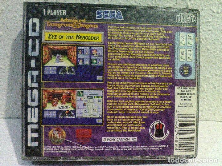 Videojuegos y Consolas: Ad&d eye of the beholder mega cd sega - Foto 2 - 158300866