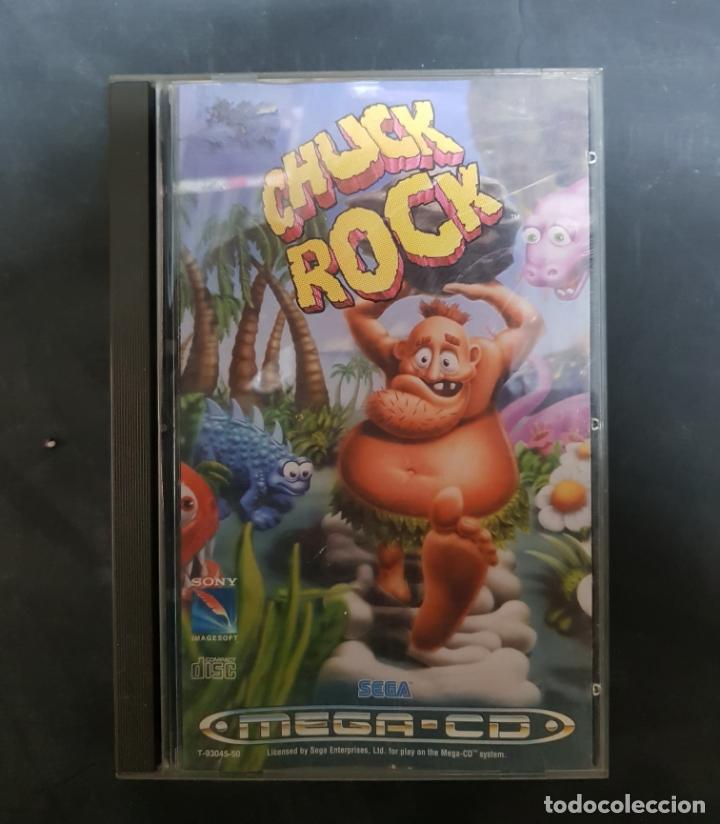 SEGA MEGA CD - JUEGO CHUCK ROCK PAL ESPAÑA COMPLETO RARO!!!! (Juguetes - Videojuegos y Consolas - Sega - Mega CD)