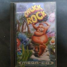 Videojuegos y Consolas: SEGA MEGA CD - JUEGO CHUCK ROCK PAL ESPAÑA COMPLETO RARO!!!!. Lote 182276575