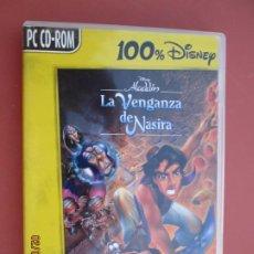 Videojuegos y Consolas: ALADDIN , LA VENGANZA DE NASIRA PC CD.ROOM JUEGO DE ACCION EN CASTELLANO. Lote 194160223