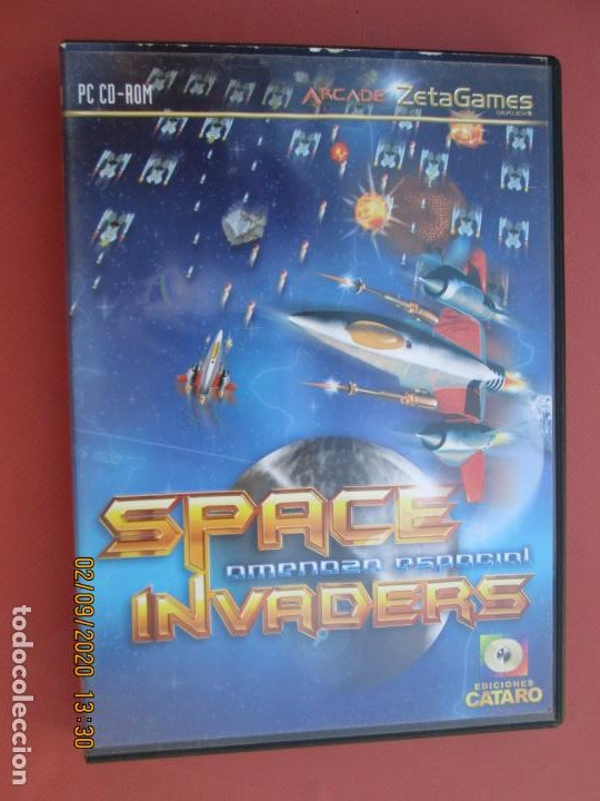 SPACE INVADERS , AMENAZA ESPACIAL PC, CD-ROM -ARCADE ZETA GAMES (Juguetes - Videojuegos y Consolas - Sega - Mega CD)