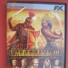 Videojuegos y Consolas: IMPERIUM III LAS GRANDES BATALLAS DE ROMA PC, CD-ROM . Lote 194160775