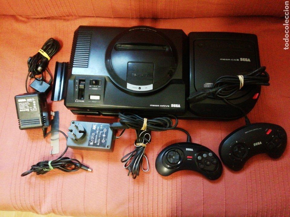 Videojuegos y Consolas: Mega Drive con Mega CD II - Foto 2 - 162478478