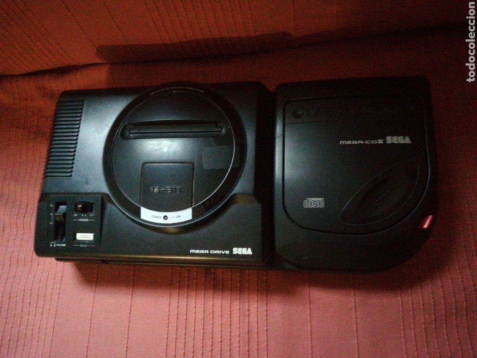 MEGA DRIVE CON MEGA CD II (Juguetes - Videojuegos y Consolas - Sega - Mega CD)