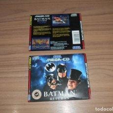 Videojuegos y Consolas: BATMAN RETURNS PORTADA Y CONTRAPORTADA ORIGINAL JUEGO SEGA MEGADRIVE MEGA CD PAL ESPAÑA. Lote 203165276
