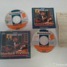 Videojuegos y Consolas: SHERLOCK HOLMES MEGA-CD ENTRE MIRE MIS OTROS JUEGOS NINTENDO SONY SEGA MEGADRIVE DREAMCAST SATURN. Lote 212606728