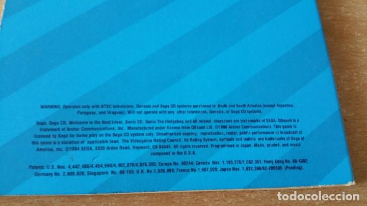 Videojuegos y Consolas: SONIC CD SEGA CD PROMO NOT FOR RELEASE - Foto 3 - 214754642