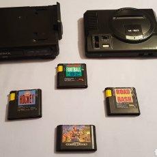 Videojogos e Consolas: SEGA MEGADRIVE I + MEGA CD 1 + 4 JUEGOS. Lote 224385430