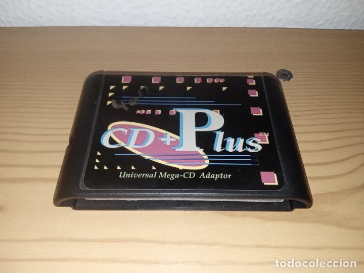 CARTUCHO CD + PLUS MEGA CD ADAPTADOR UNIVERSAL MUY DIFÍCIL DE CONSEGUIR (Juguetes - Videojuegos y Consolas - Sega - Mega CD)