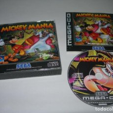 Videojuegos y Consolas: DIFÍCIL JUEGO MICKEY MANIA PARA CONSOLA SEGA MEGA CD COMPLETO CON SU CAJA E INSTRUCCIONES ORIGINALES. Lote 284535928