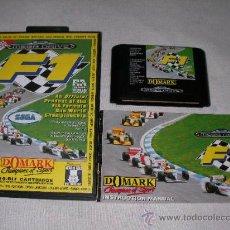 Videojuegos y Consolas: ANTIGUO JUEGO F-1 SEGA MEGA DRIVE EN SU CAJA CON INSTRUCCIONES. Lote 20590440