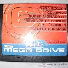 Videojuegos y Consolas: ANTIGUO JUEGO SEGA MEGADRIVE SUPER MONACO GP, SONIC, STREETS OF RANGE Y OTROS. Lote 23004622