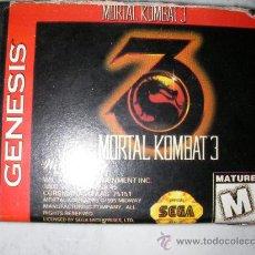 Videojuegos y Consolas: JUEGO MEGA DRIVE MORTAL KOMBAT III. Lote 23285791