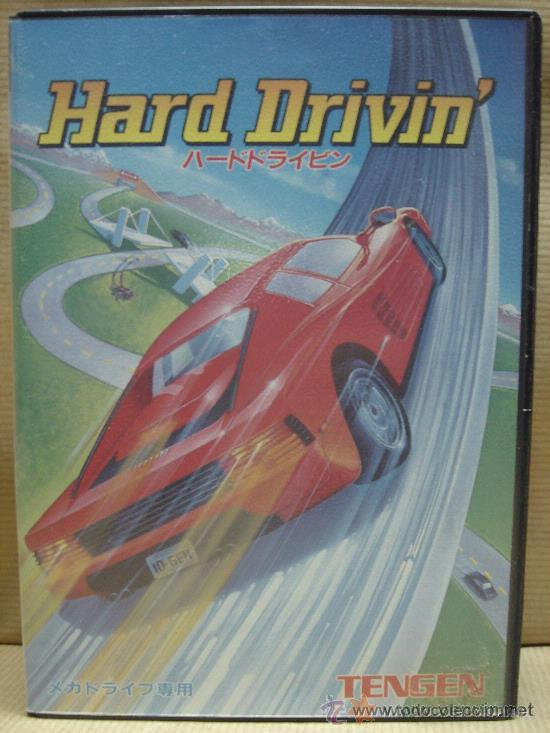 VIDEO JUEGO SEGA MEGADRIVE - JAPAN - HARD DRIVIN ¡¡¡ COMPLETO ¡¡¡ (Juguetes - Videojuegos y Consolas - Sega - MegaDrive)