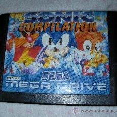 Videojuegos y Consolas: ANTIGUO JUEGO SEGA MEGADRIVE SONIC COMPILATION. Lote 24801725