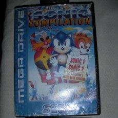 Videojuegos y Consolas: ANTIGUO MEGADRIVE JUEGO SONIC COMPILATION SONIC 1 SONIC 2 - ENVIO GRATIS A ESPAÑA. Lote 26591897