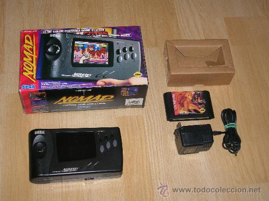 CONSOLA SEGA NOMAD CON CAJA MEGADRIVE PORTATIL COMO NUEVA (Juguetes - Videojuegos y Consolas - Sega - MegaDrive)