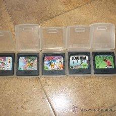 Videojuegos y Consolas: 5 JUEGOS GAME GEAR SONIC, SONIC 2, COLUMNS ,GOLF, ETC.. Lote 28968630