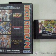 Videojuegos y Consolas: ANTIGUO JUEGO MEGA GAMES 2 - THE REVENGE OF SHINOBI - STREETS OF RAGE - GOLDEN AXE. Lote 30381075