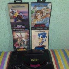 Videojuegos y Consolas: CONSOLA SEGA MEGADRIVE 16 BITS 2 MANDOS Y JUEGOS. VINTAGE AÑOS 80/90 JAPONESA JAPAN. Lote 72296158