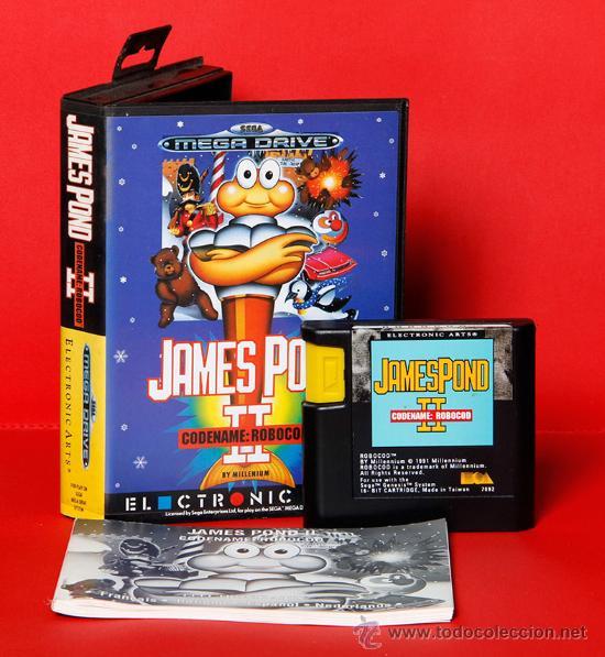 JAMES POND II CODENAME ROBOCOD VIDEOJUEGO PAL SEGA MEGADRIVE (Juguetes - Videojuegos y Consolas - Sega - MegaDrive)