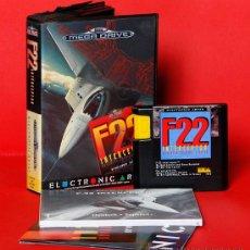 Videojuegos y Consolas: F22 INTERCEPTOR VIDEOJUEGO PAL SEGA MEGADRIVE. Lote 34910162