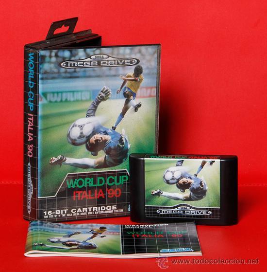 WORLD CUP ITALIA 90 VIDEOJUEGO PAL SEGA MEGADRIVE (Juguetes - Videojuegos y Consolas - Sega - MegaDrive)