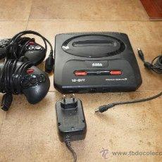 Videojuegos y Consolas: CONSOLA SEGA MEGADRIVE MEGA DRIVE II PAL SET COMPLETA CABLES DOS MANDOS. Lote 251989095